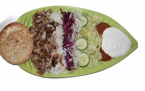 Döner-Teller mit Reis