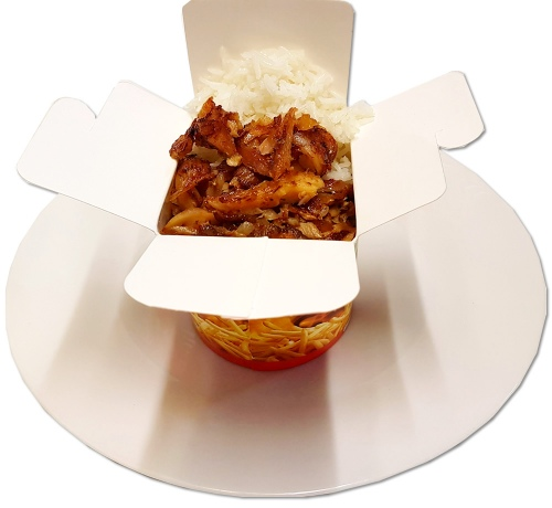 Döner-Box mit Reis
